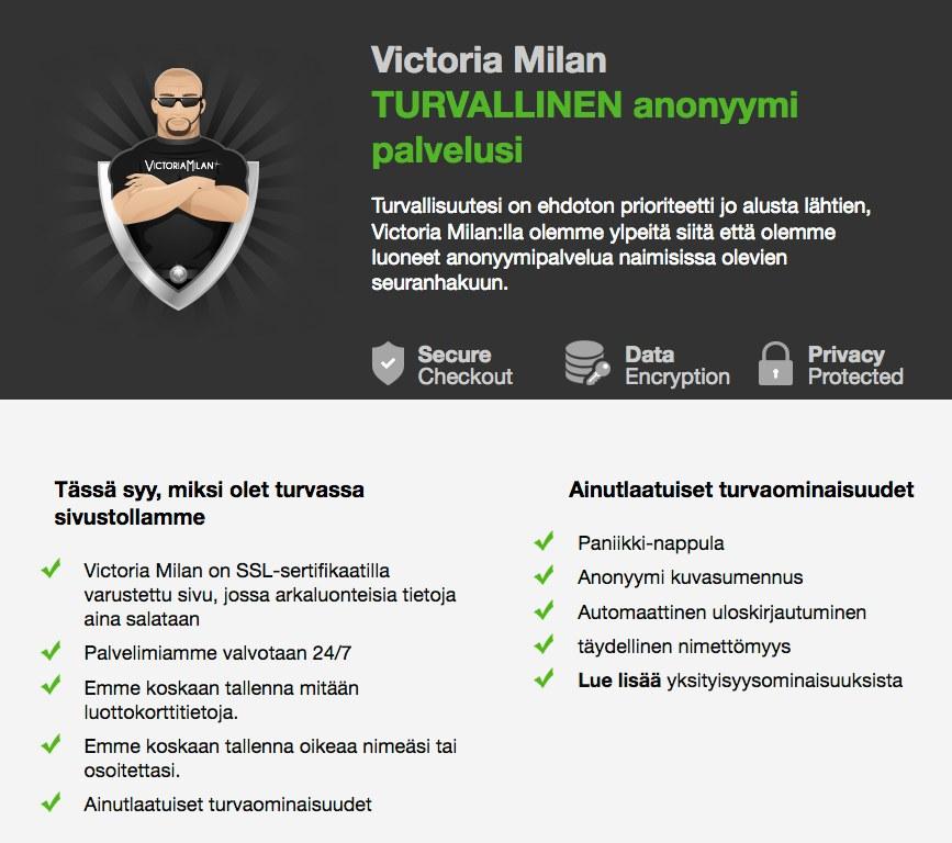 victoria milan yksityisyys